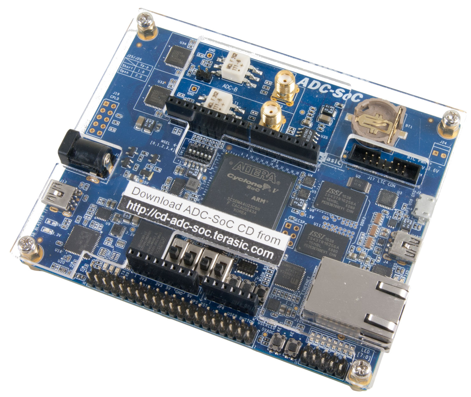 Terasic De Main Boards Cyclone Adc Soc Hardware Block Diagram Embedded Lab The Card Is Based On De0 Nano Board With A Built In High Speed Circuit Dcc Ad