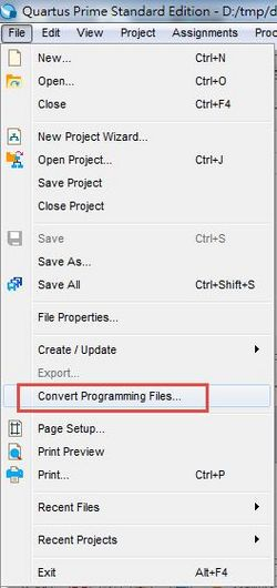 Chapter 4 Setting for change  sof file to  pof file