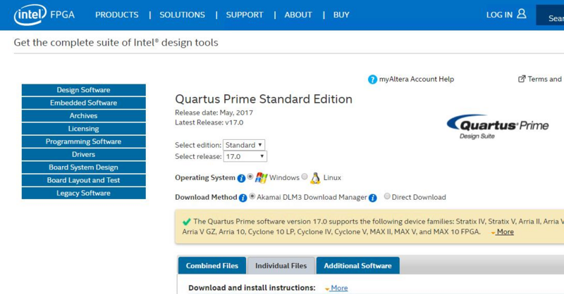 Chapter 1 Download and install Quartus Programmer - Terasic Wiki
